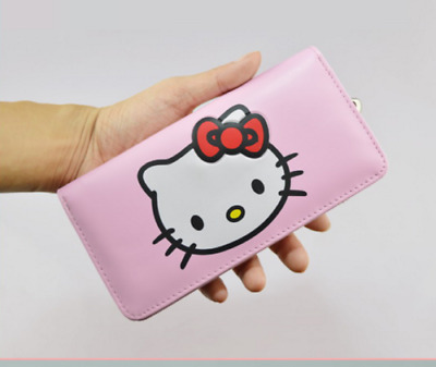brand new HELLO KITTY PU leather long folding wallet girl gift