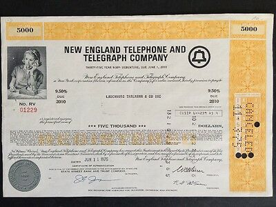 New England Telephone and Telegraph Comp. 1975 5.000$