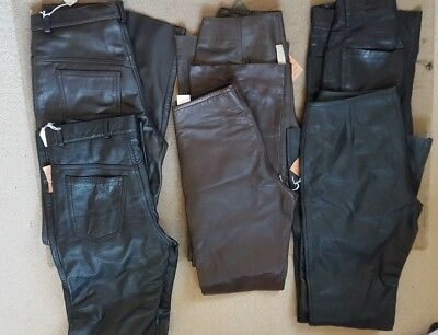 Job Lot Brand New Ladies Leather Trousers X 6 Original Prices £125 - £265