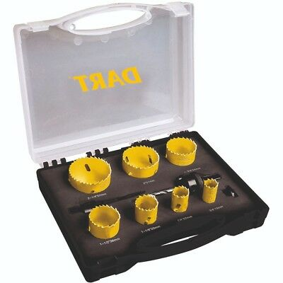 DART 10 Piece HSS COBALT Bi-Metal 19mm-57mm Holesaw Set + Case DPHK10 YELLOW