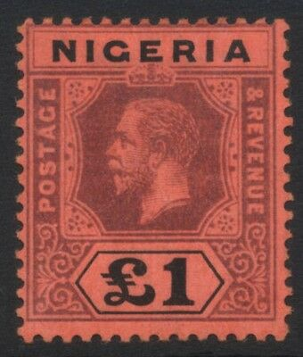 Nigeria 1914-29 £1 GV Crown Colony MINT Never Hinged SG 12a Cat £225
