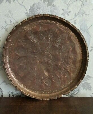 A Very Large Vintage Copper Tray