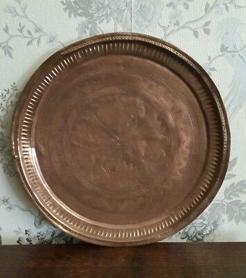 A Large Vintage Copper Tray