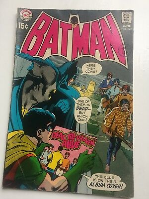 DC Comics Batman #222 Dead Till Proven Alive. BEATLES Take-off! 1970.