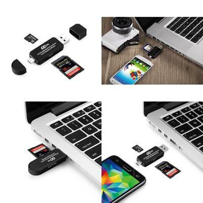 Usb Memory Card Reader Sd/Micro Sd 2.0 Adapter Computer Electronics Accessories