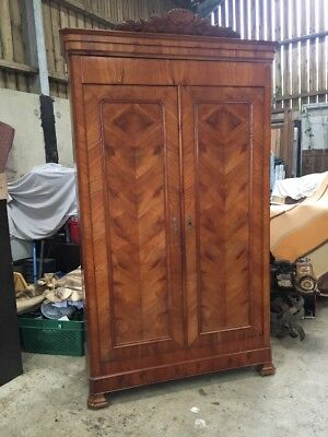 French Cherry Wood Antique Wardrobe