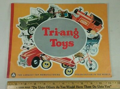 Vintage Toy Store Catalog Tri-ang Trains Tin Vehicles pedal cars 1950s