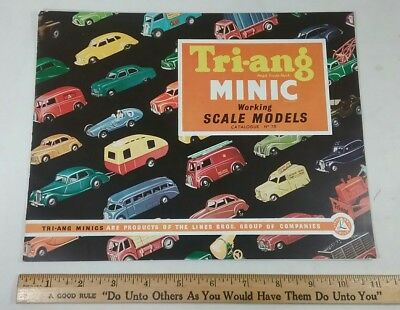 Vintage Toy Store Catalog Tri-ang minic scale models Trains Vehicles 1950s