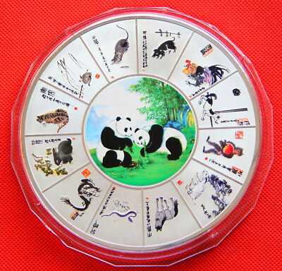 Beautiful Chinese Lunar New Year Zodiac and panda coins