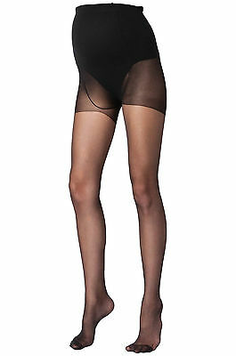 Mamalious 20 Denier Maternity Tights 2 Pack Size 8 - 16 Black