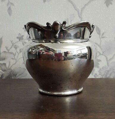 A Vintage Silver Plated Vase/ Flower Pot by Atkin Brothers