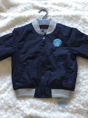 Baby Boys Mothercare Bomber Jacket Spring Summer Lightweight 18-24 M New Tags