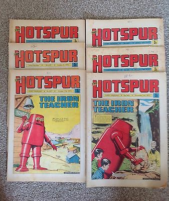 6 Vintage Hotspur Comics Issues 677-682 Dated 1972