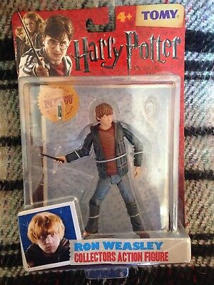 Harry Potter Ron Weasley Deathly Hallows Action Figure NEW Rare Tomy wand