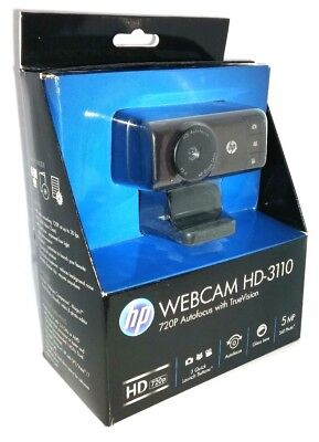 New - HP Webcam HD-3110 720P Autofocus Widescreen TrueVision Fast Shipping Free