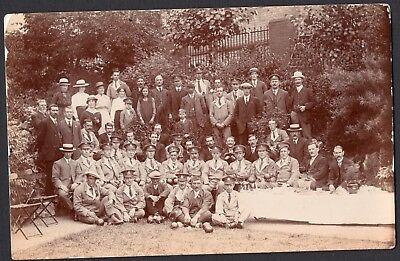 Ww1 Convalescing Soldier Group & Locals, Barry Wales, Rppc.
