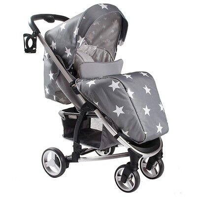 My Babiie Billie Faiers MB100 Grey Star Stroller Pushchair #017