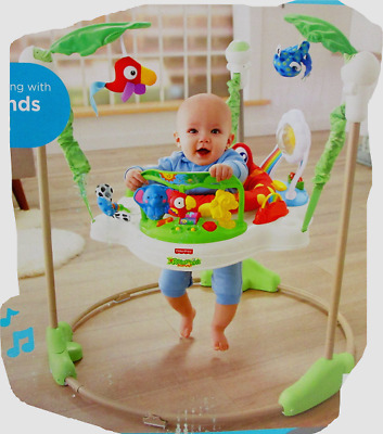 Fisher-Price Roarin Rainforest Jumperoo K6070-999A Music Sounds Lights 7400 []