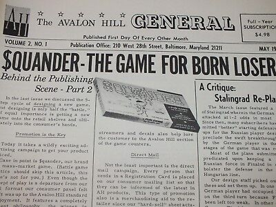 1965-66 Avalon Hill The General Magazines VOL 2 COMPLETE 6 ISSUES WARGAME ESSEN