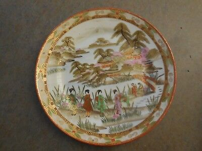 Japanese hand  painted  porcelain plate 20th century
