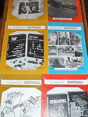 1969-70 Avalon Hill The General Magazines VOL 6 COMPLETE 6 ISSUES WARGAME tactic