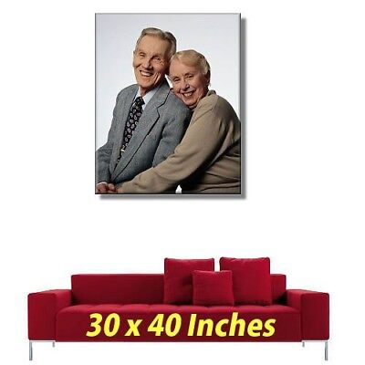 "YOUR PERSONALISED PHOTO PICTURE PRINT on to a Box Canvas 20"" 30"" 40"" 60""  inch"