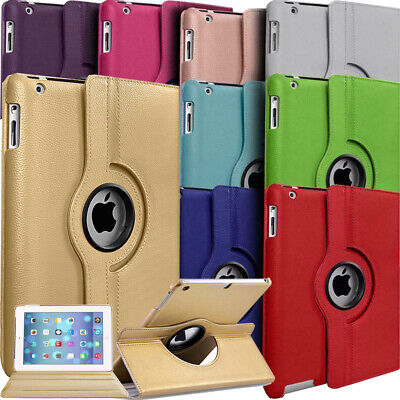 """360° Rotating Leather Flip Smart Case Cover For Apple iPad (6th Gen) 9.7"""" 2018"""
