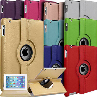 """For Apple iPad (6th Gen) 9.7"""" 2018 360° Rotating Leather Flip Smart Case Cover"""