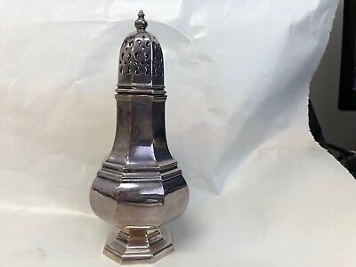 """Made In England Muffineer Sugar Shaker Silver Plate 6 1/2"""""""