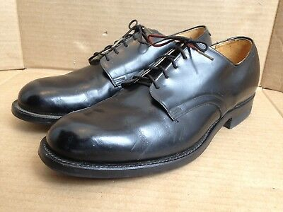 VTG Craddock Terry Men's Black Leather Oxford Millitary Dress Shoes Size 7.5 W
