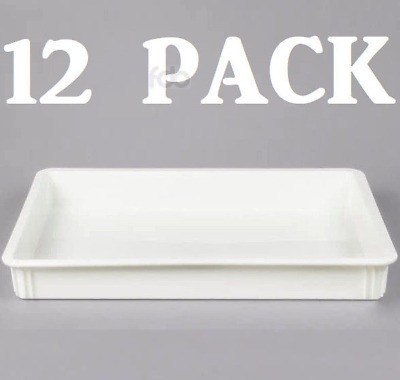 "12 PACK 18"" x 26"" x 3"" Dough Proofing Box Commercial Baking Proof Pan Tray"