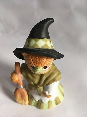 VTG Lucy Rigg Enesco Bears - Halloween Kitty Whitch 3.5 inches tall with NO BOX