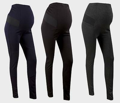 Maternity Leggings Size 10 - 20 Grey, Black or Navy Blue