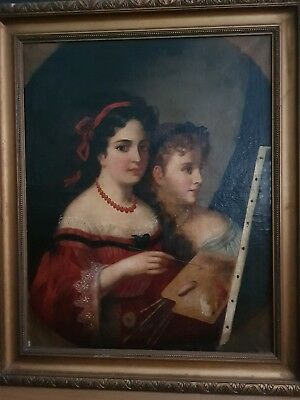 19th Century Oil Painting on Canvas FRENCH SCHOOL