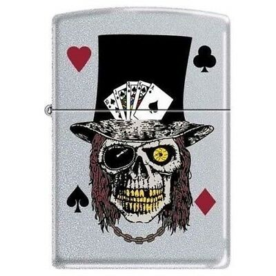 Zippo Lighter - Skull with Top Hat