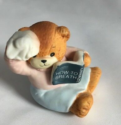 VTG Lucy Rigg Enesco Bears - Lamaze how to Breath 2.5 inches tall with NO BOX