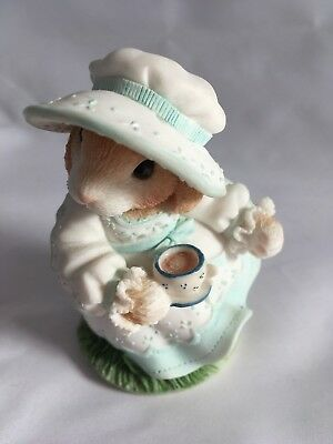 VTG My Blushing Bunnies -Tea and Friendship 3.5 inches tall with NO BOX