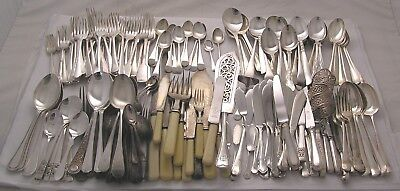 VARIOUS Patterns Job lot of Sheffield made silver plated cutlery 9.2 Kilos