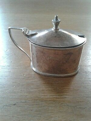 Solid Sterling Silver Oval Mustard Pot