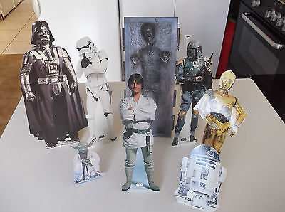 LOT de 8 MINI STAND UP STAR WARS - 1997