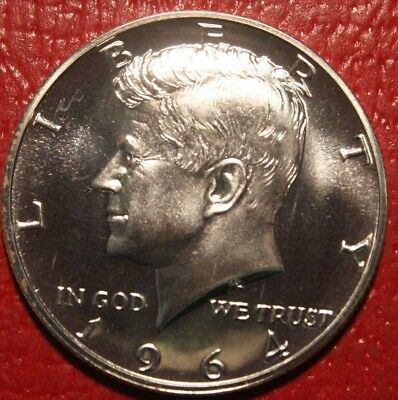 1964 PROOF SILVER Kennedy Half Dollar, 90%, GEM , Free Shipping!