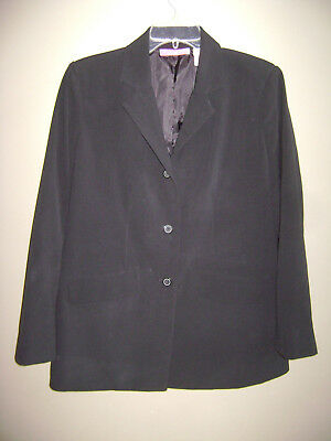 LIZ LANGE MATERNITY STRETCH WOMENS BLAZER JACKET size 6 BLACK