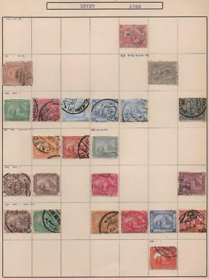 EGYPT: 1879-1902 Examples - Ex-Old Time Collection - Album Page (14058)