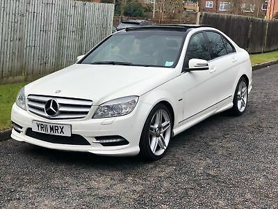 2011 (11) Mercedes-Benz C350 Cdi Amg Sport White W204 Salvage Damaged Repairable