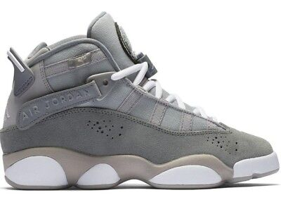 44036378fb65d6 Nike Big Kids  Air Jordan 6 RINGS BG Shoes Grey 323419-014 b Size