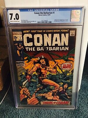 Conan the Barbarian #1 CGC 7.0 Cream to Off-White pages Origin & 1st app