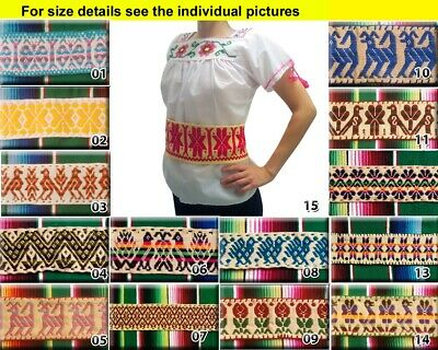 Handmade Mexican Embroidered Sash Mazahua