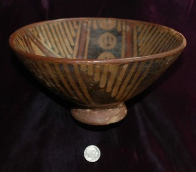 Pre-Columbian NARINO / MARIñO ~ Pre-Colombian Polychrome Painted Footed BOWL ~NR
