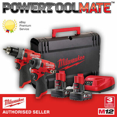 Milwaukee M12FPP2A-602X 12 volt Power Pack 2 x 6ah Batteries / Charger / Case