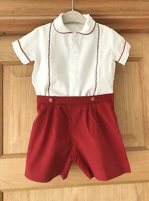 BOYS * TRADITIONAL Shorts Shirt Spanish Style OUTFIT Romany AGE 12 MONTHS